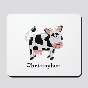 Cow Just Add Name Mousepad